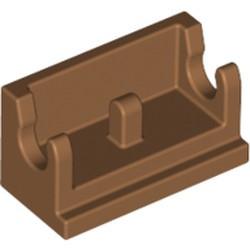 Medium Nougat Hinge Brick 1 x 2 Base - used