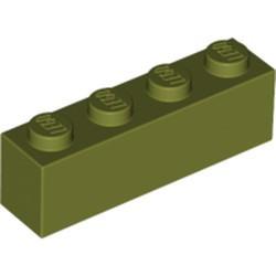 Olive Green Brick 1 x 4 - used