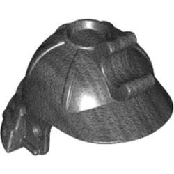 Pearl Dark Gray Minifigure, Headgear Helmet Ninja (Ninjago Samurai) - used
