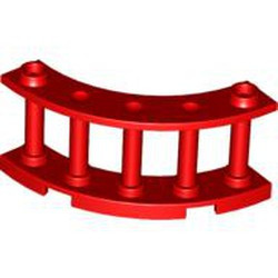 Red Fence 4 x 4 x 2 Quarter Round Spindled with 2 Studs - used