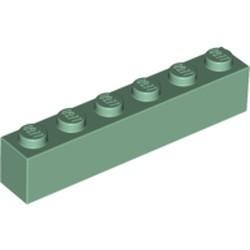 Sand Green Brick 1 x 6 - new