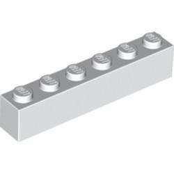 White Brick 1 x 6 - used
