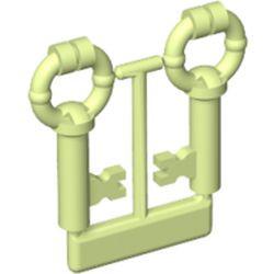 Yellowish Green Minifigure, Utensil Keys, 2 on Sprue