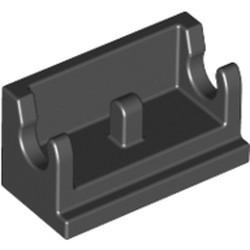 Black Hinge Brick 1 x 2 Base - new