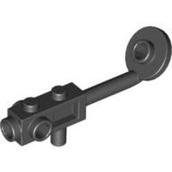 Black Minifigure, Utensil Metal Detector, Stud on Search Head