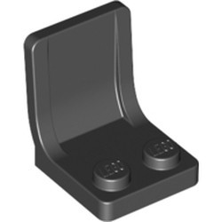 Black Minifigure, Utensil Seat (Chair) - used 2 x 2 with Center Sprue Mark