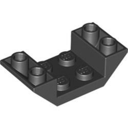 Black Slope, Inverted 45 4 x 2 Double with 2 x 2 Cutout - new