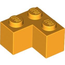 Bright Light Orange Brick 2 x 2 Corner - used
