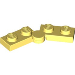Bright Light Yellow Hinge Plate 1 x 4 Swivel Base with Same Color Hinge Plate 1 x 4 Swivel Top (2429 / 2430) - new