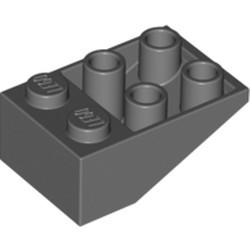 Dark Bluish Gray Slope, Inverted 33 3 x 2 with Connections between Studs - used
