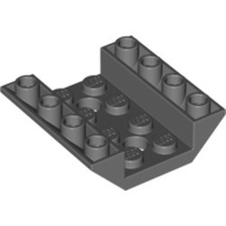 Dark Bluish Gray Slope, Inverted 45 4 x 4 Double with 2 Holes - used