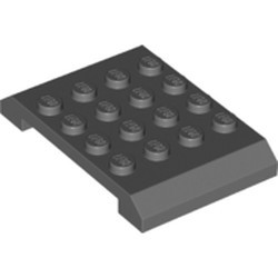 Dark Bluish Gray Wedge 4 x 6 x 2/3 Double - new