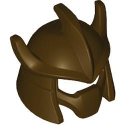 Dark Brown Minifigure, Headgear Helmet Trident Shaped with Face Mask