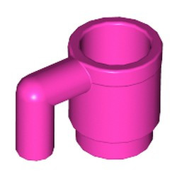 Dark Pink Minifigure, Utensil Cup - new
