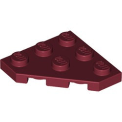 Dark Red Wedge, Plate 3 x 3 Cut Corner - used