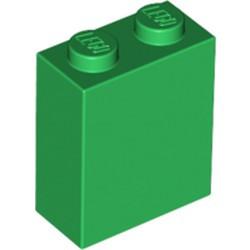 Green Brick 1 x 2 x 2 with Inside Stud Holder - new