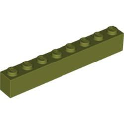 Olive Green Brick 1 x 8 - used