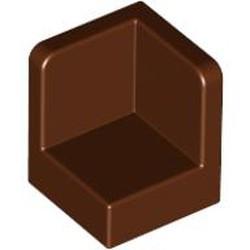 Reddish Brown Panel 1 x 1 x 1 Corner - used