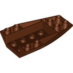 Reddish Brown Wedge 6 x 4 Triple Inverted Curved - used