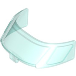 Trans-Light Blue Glass for Aircraft Fuselage Curved Forward 6 x 10 Top with 3 Window Panes - new