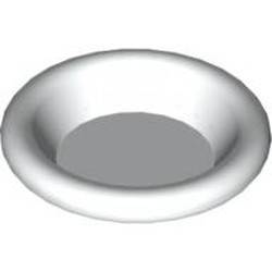 White Minifigure, Utensil Dish 3 x 3 - new