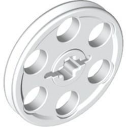 White Technic Wedge Belt Wheel (Pulley) - used