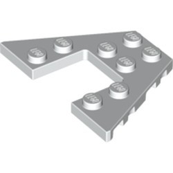 White Wedge, Plate 4 x 6 - used