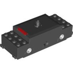Black Electric, Train Motor 9V RC Train with Red Stripe Pattern - used