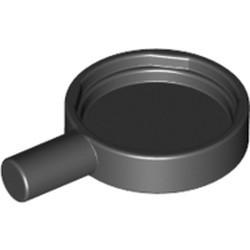 Black Minifigure, Utensil Frying Pan - used