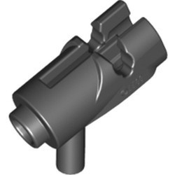 Black Minifigure, Weapon Gun, Mini Blaster / Shooter with Dark Bluish Gray Trigger (15391 / 15392) - used