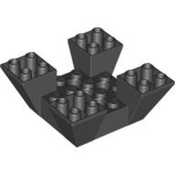 Black Slope, Inverted 65 6 x 6 x 2 Quad with Cutouts - used