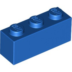 Blue Brick 1 x 3 - used