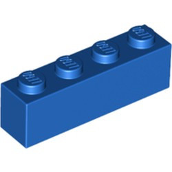 Blue Brick 1 x 4 - new