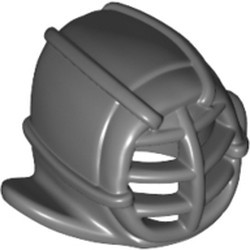 Dark Bluish Gray Minifigure, Headgear Ninjago Kendo Helmet