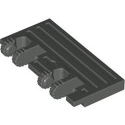 Dark Gray Hinge Train Gate 2 x 4 Locking Dual 2 Fingers with Rear Reinforcements - used