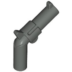 Dark Gray Minifigure, Weapon Gun, Pistol Revolver - Large Barrel - used
