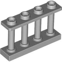 Light Bluish Gray Fence 1 x 4 x 2 Spindled with 4 Studs