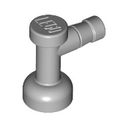 Light Bluish Gray Tap 1 x 1 without Hole in Nozzle End