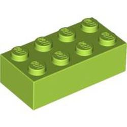 Lime Brick 2 x 4 - new