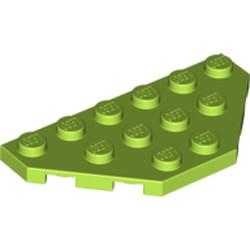 Lime Wedge, Plate 3 x 6 Cut Corners - used