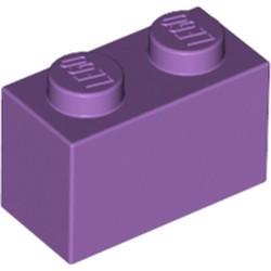 Medium Lavender Brick 1 x 2 - used