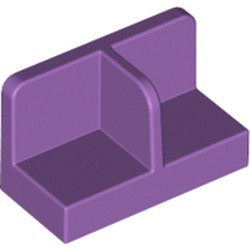 Medium Lavender Panel 1 x 2 x 1 with Rounded Corners and Center Divider - new