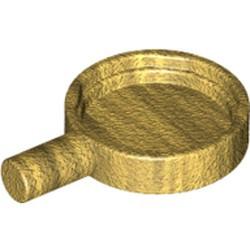 Pearl Gold Minifigure, Utensil Frying Pan - new