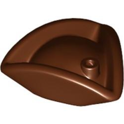Reddish Brown Minifigure, Headgear Hat, Pirate Tricorne / Triangle - used