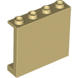 Tan Panel 1 x 4 x 3 with Side Supports - Hollow Studs - new