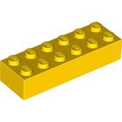 Yellow Brick 2 x 6 - used