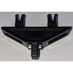 Black Hinge 1 x 4 Triangle with Two Pins, Locking 1 Finger - used
