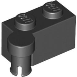 Black Hinge Brick 1 x 4 Swivel Top - used
