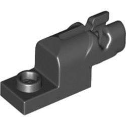 Black Projectile Launcher, 1 x 2 Mini Blaster / Shooter with Dark Bluish Gray Trigger (15403 / 15392) - used