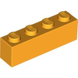 Bright Light Orange Brick 1 x 4 - new